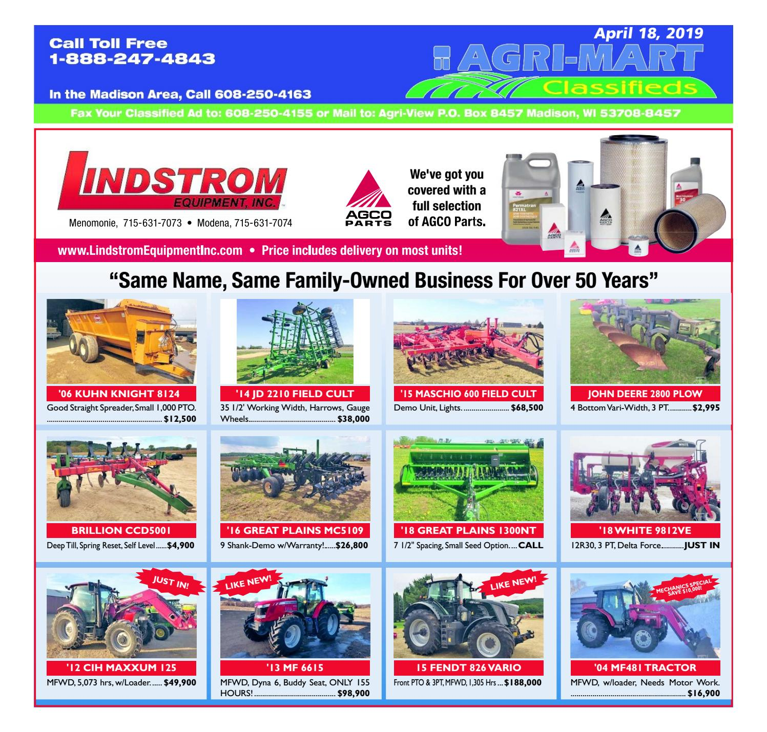 April 18, 2019 AgriMart by Madison com - issuu