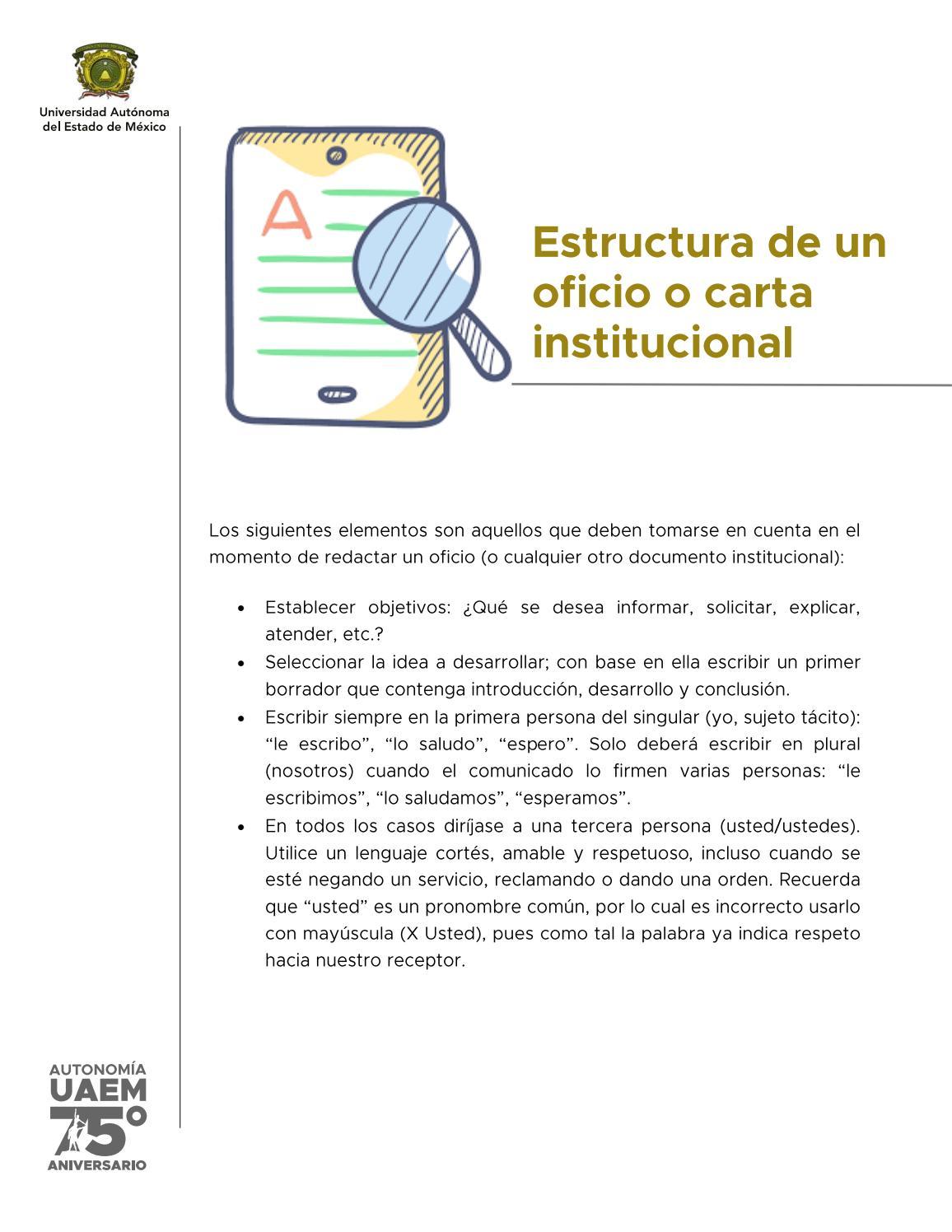 Estructura De Un Oficio O Carta Institucional By Adri Issuu