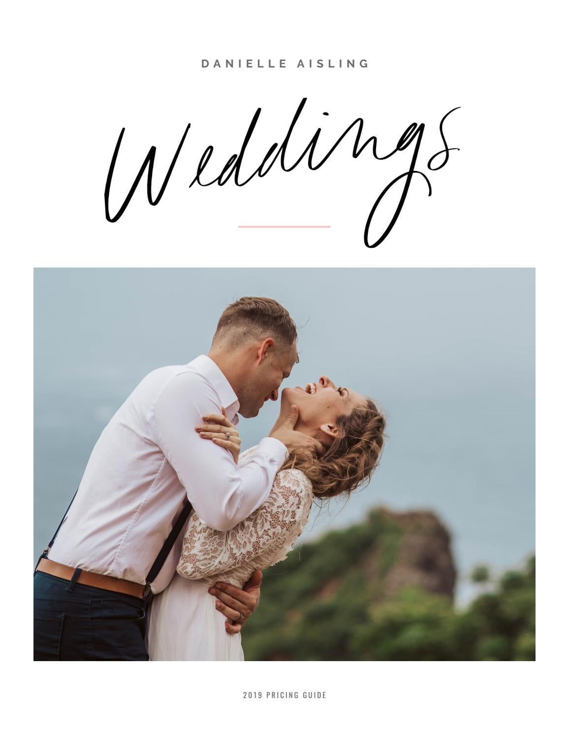 Wedding + Elopement Photography Price Guide