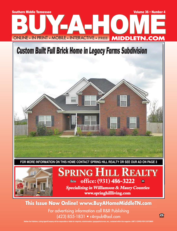 BUY-A-HOME South Middle TN v36n4 by R&R Publishing - issuu