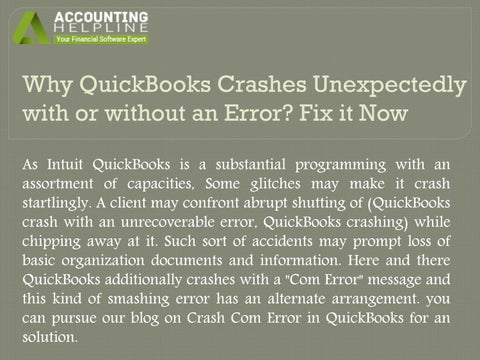 How to fix QuickBooks outlook crash? by sarahwatsonsus - issuu