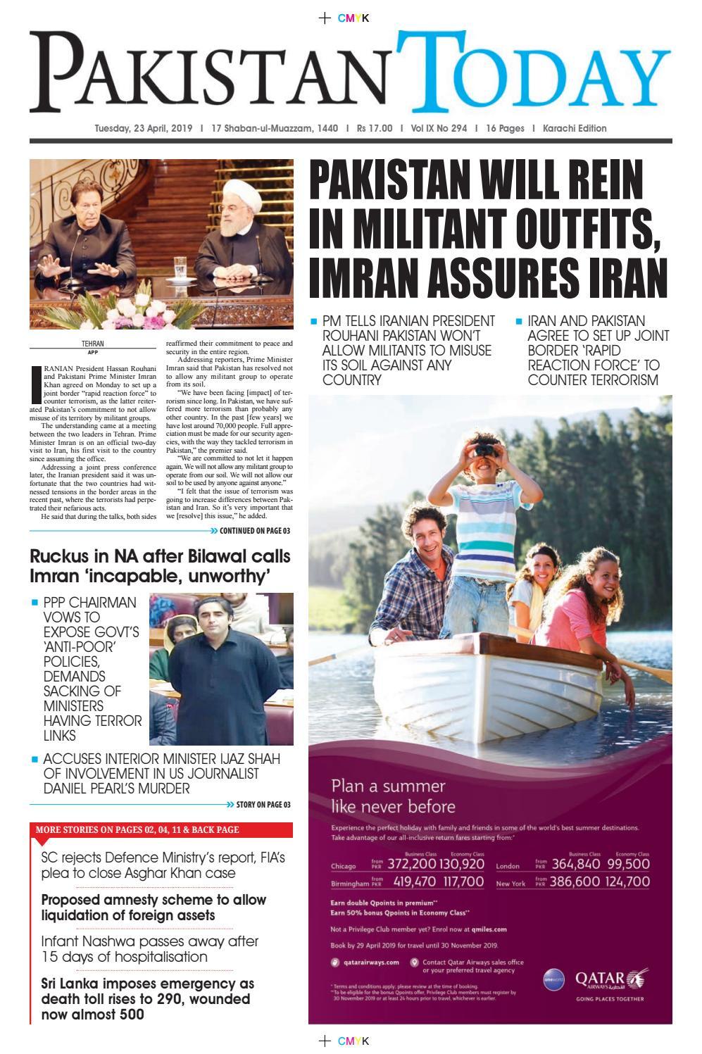 E-Paper PDF 20 April (KHI) by Pakistan Today - issuu