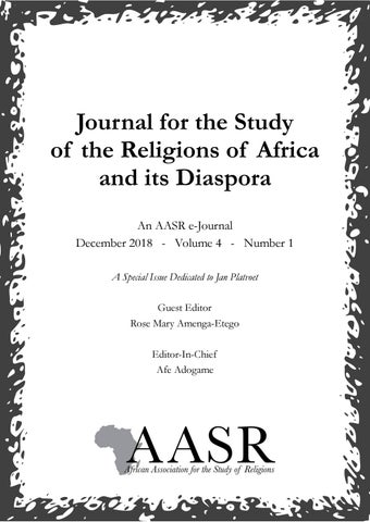 Journal for the Study of the Religions of Africa and its Diaspora
