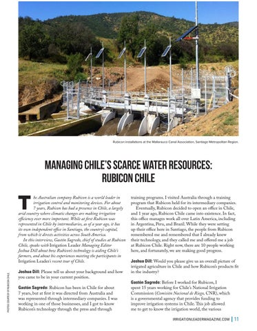 Page 11 of Managing Chile's Scarce Water Resources: Rubicon Chile