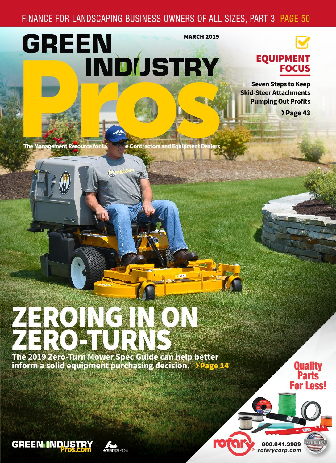 Green Industry Pros March 2019 / Dealer Success Guide V42 by