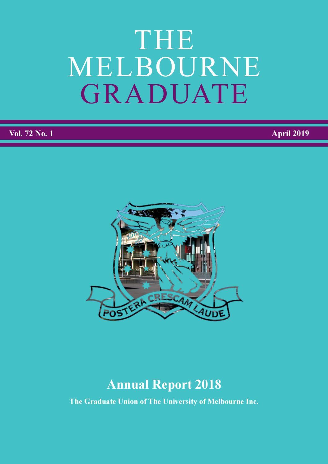 The Melbourne Graduate April 2019 by Graduate House - issuu