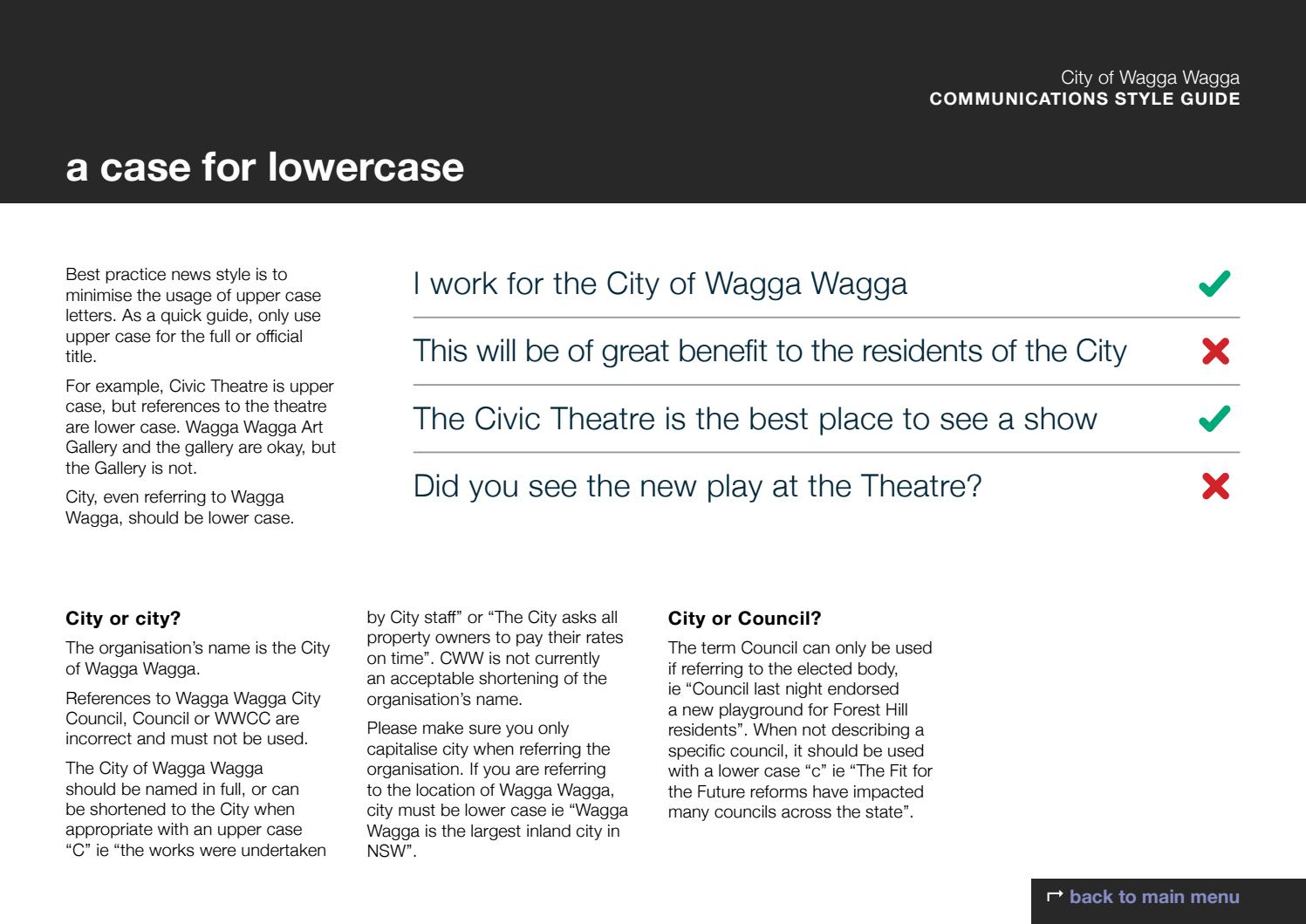 Communications Style Guide City Of Wagga Wagga By Wagga Wagga City Council Issuu