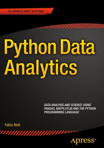 Python Data Analytics_ Data Analysis and Science Using Pandas