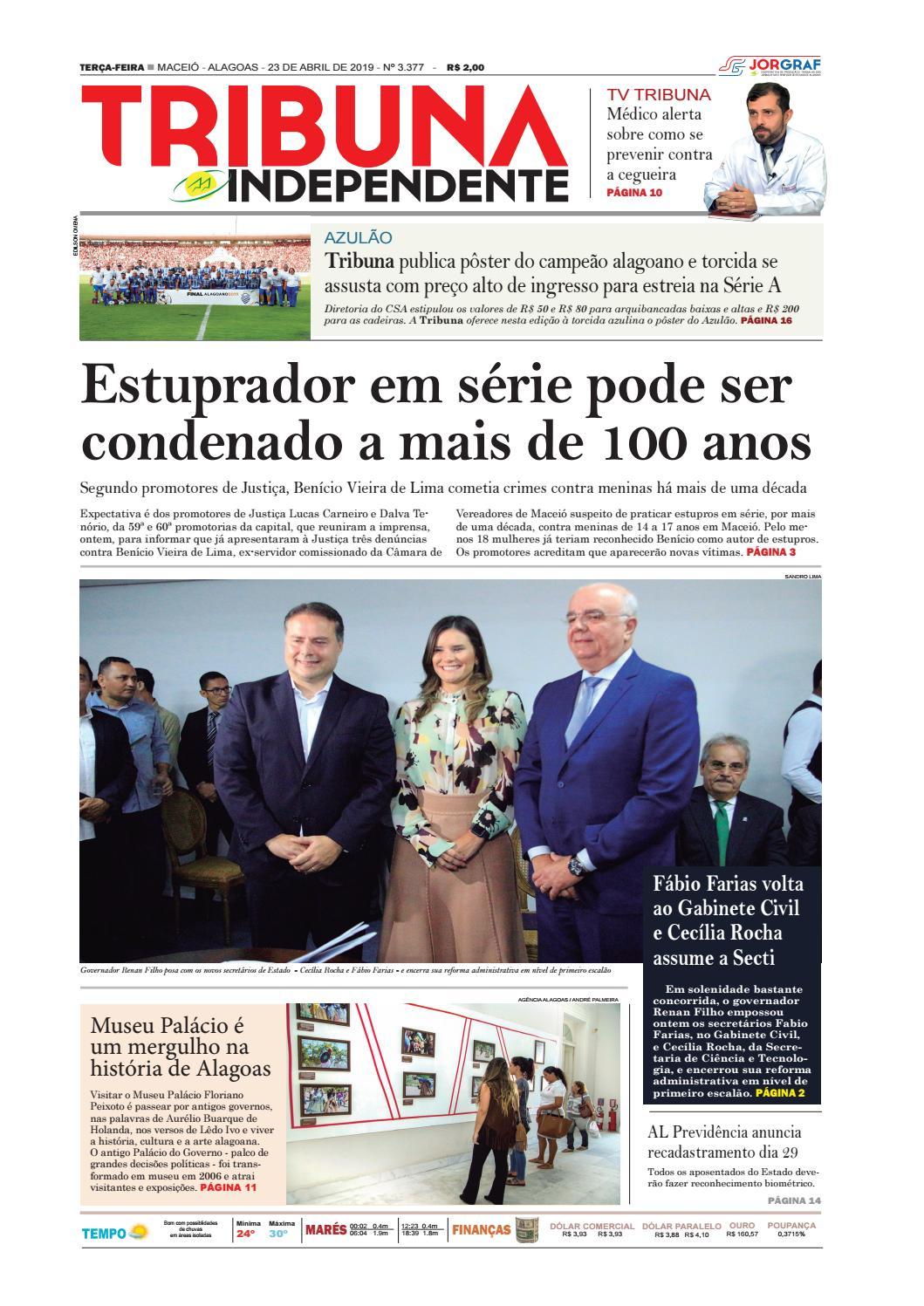 38b33aa6f Edição número 3377 - 23 de abril de 2019 by Tribuna Hoje - issuu