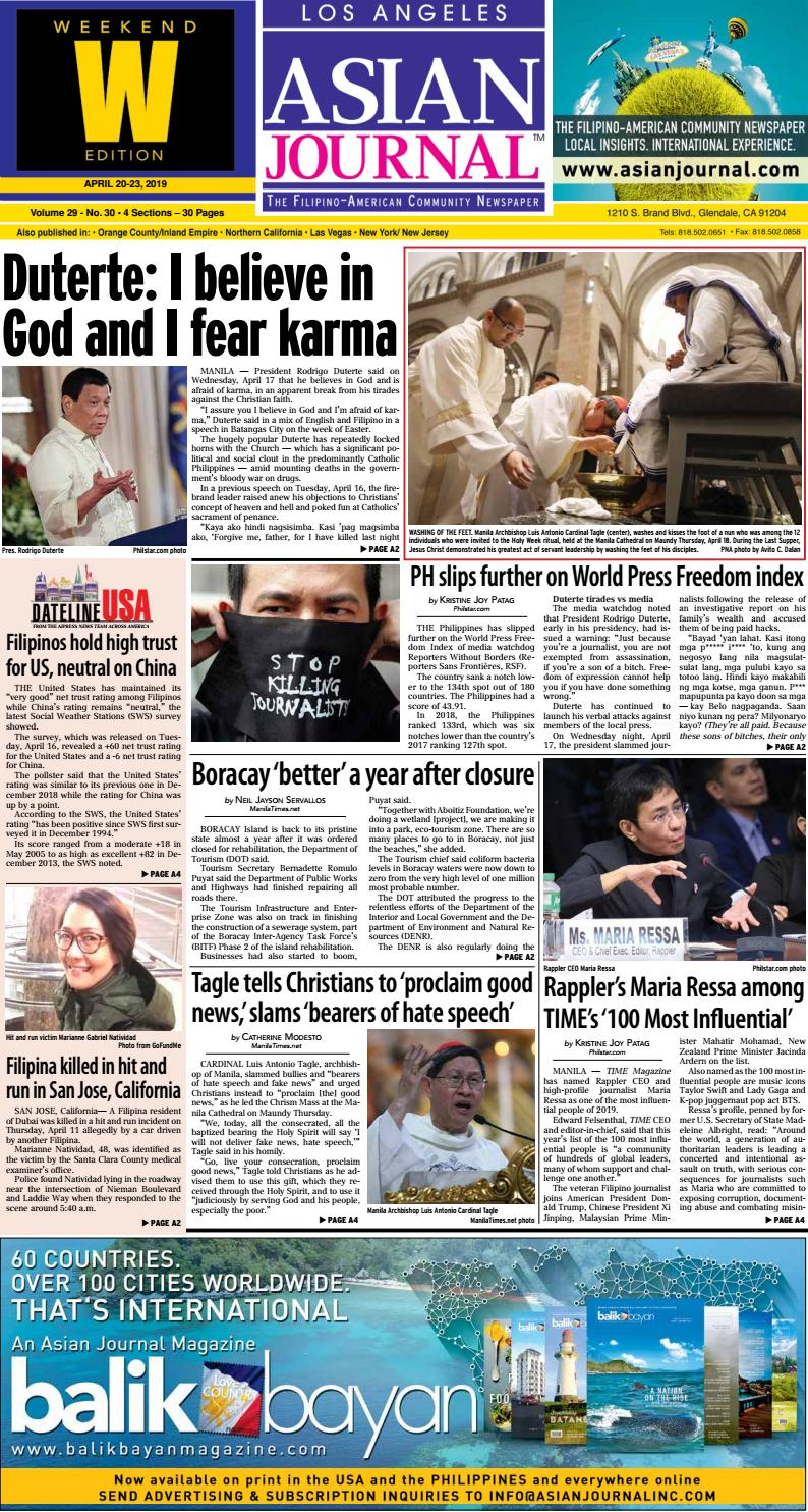9081d99e57c 042019 - Los Angeles Weekend Edition by Asian Journal Community Newspapers  - issuu
