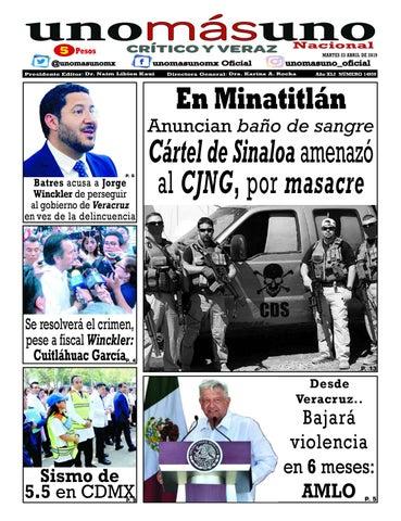 23 de Abril 2019, Cártel de Sinaloa amenazó al CJNG, por