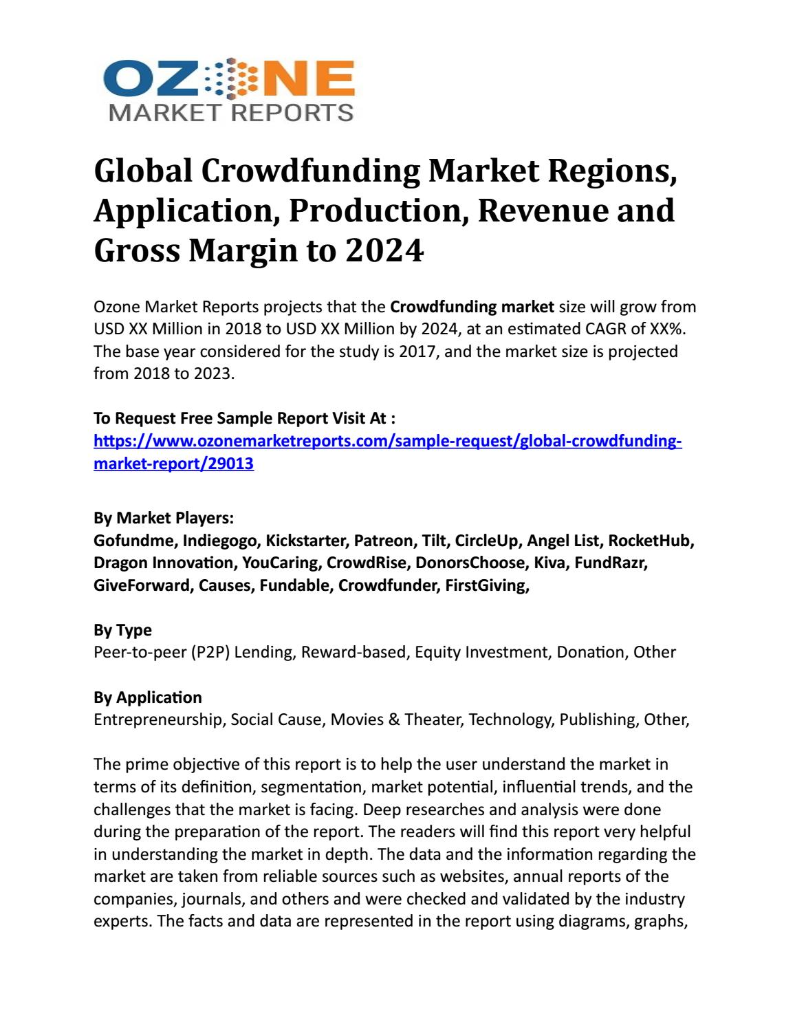 Global Crowdfunding Market Regions, Application, Production