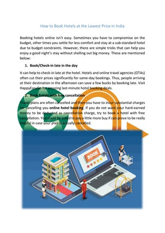 How To Book Hotels At The Lowest Price In India By Happy Easy Go Issuu