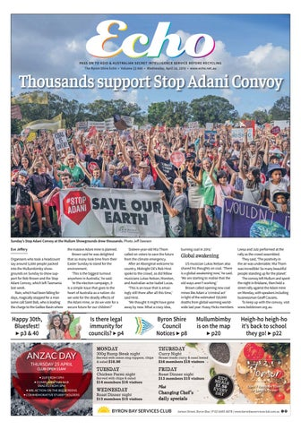 2ea827621 The Byron Shire Echo – Issue 33.46 – April 24, 2019 by Echo ...
