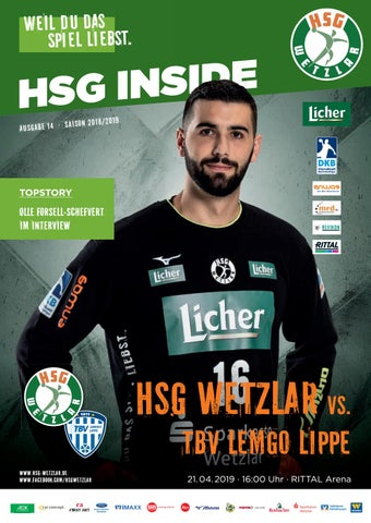 Hsg Inside 14 21 04 2019 By Hsg Wetzlar Handball Bundesliga