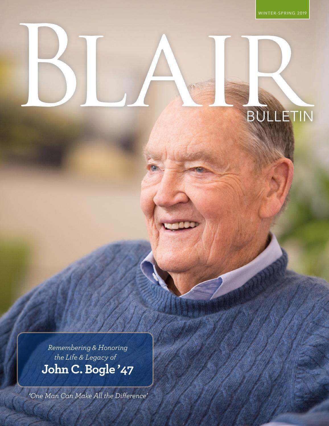 Winter/Spring 2019 Bulletin by Blair Academy - issuu