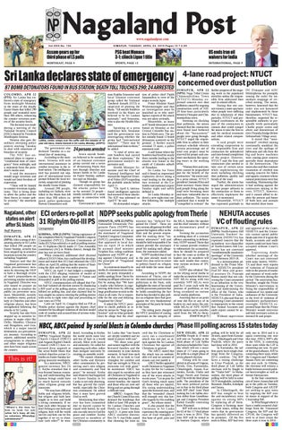 April 23, 2019 by Nagaland Post - issuu