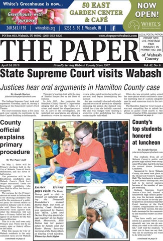 The Paper of Wabash County - April 24, 2019 issue by The