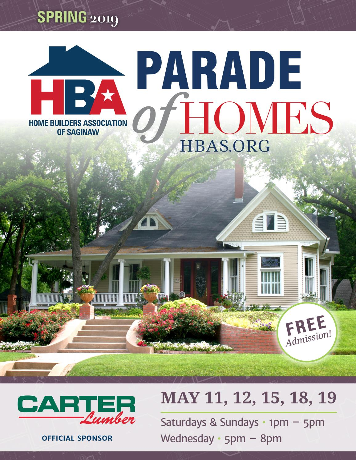 2019 HBA Saginaw Spring Parade of Homes by hbasaginaw - issuu