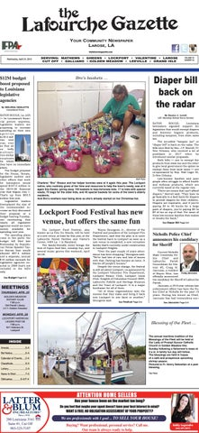 Wednesday, March 27, 2019 THE LAFOURCHE GAZETTE by The Lafourche