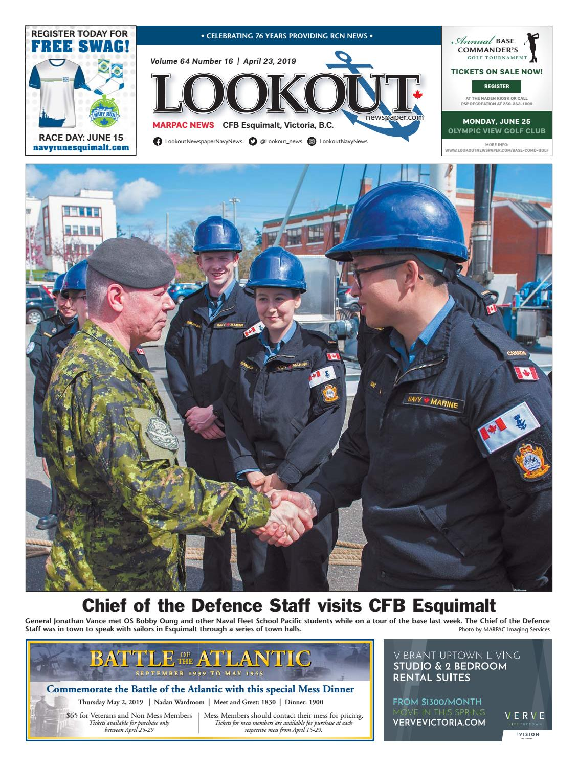 Lookout Newspaper, Issue 16, April 22, 2019 by Lookout