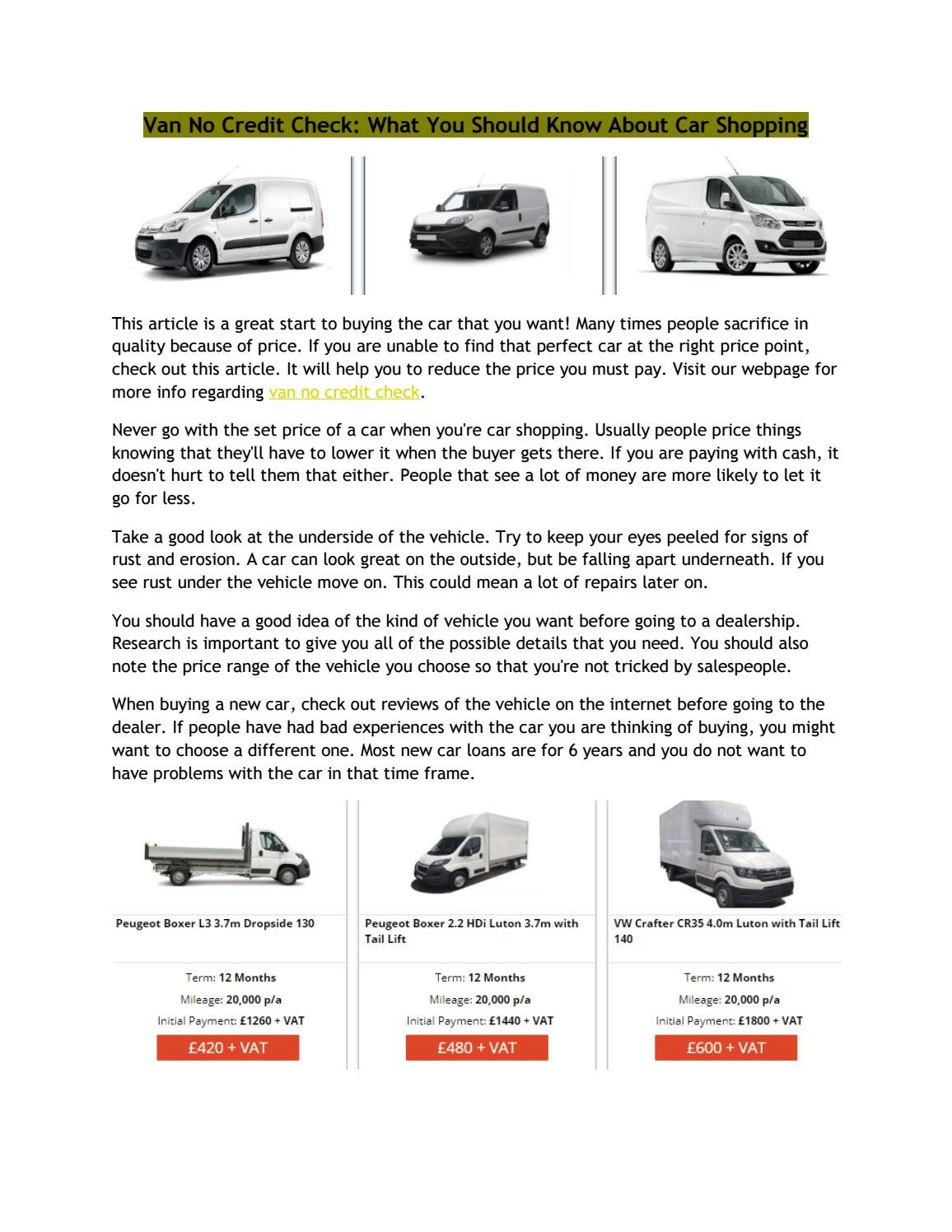 No Credit Check Car Lots >> Van No Credit Check By Deborahwilson791 Issuu