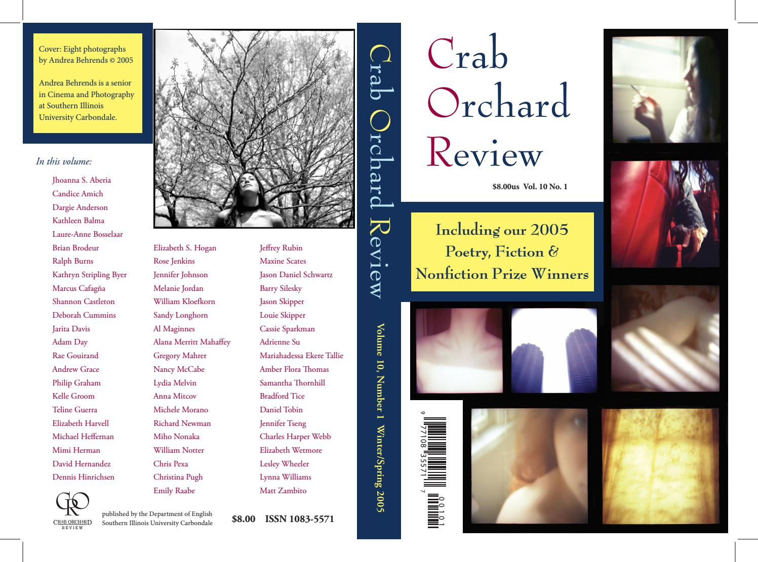 Crab Orchard Review Vol 10 No 1 W/S 2005 by Crab Orchard Review - issuu
