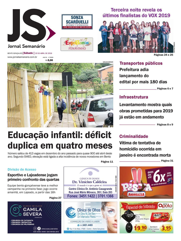 b6387f94a Jornal Semanário – 20 de abril de 2019 – ano 52 – nº 3533 by Jornal  Semanário - Bento Gonçalves - RS - issuu