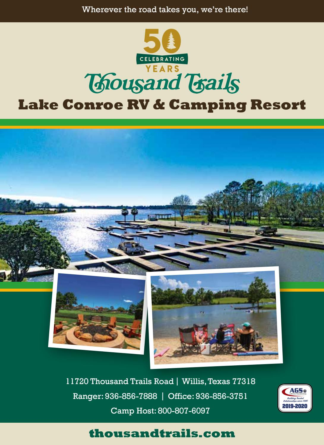 Thousand Trails Lake Conroe By Ags Texas Advertising Issuu
