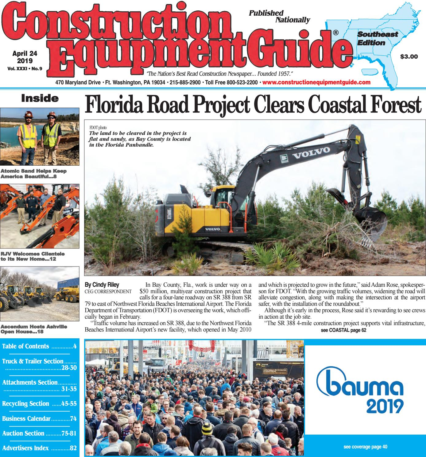 Southeast 9, April 24, 2019 by Construction Equipment Guide