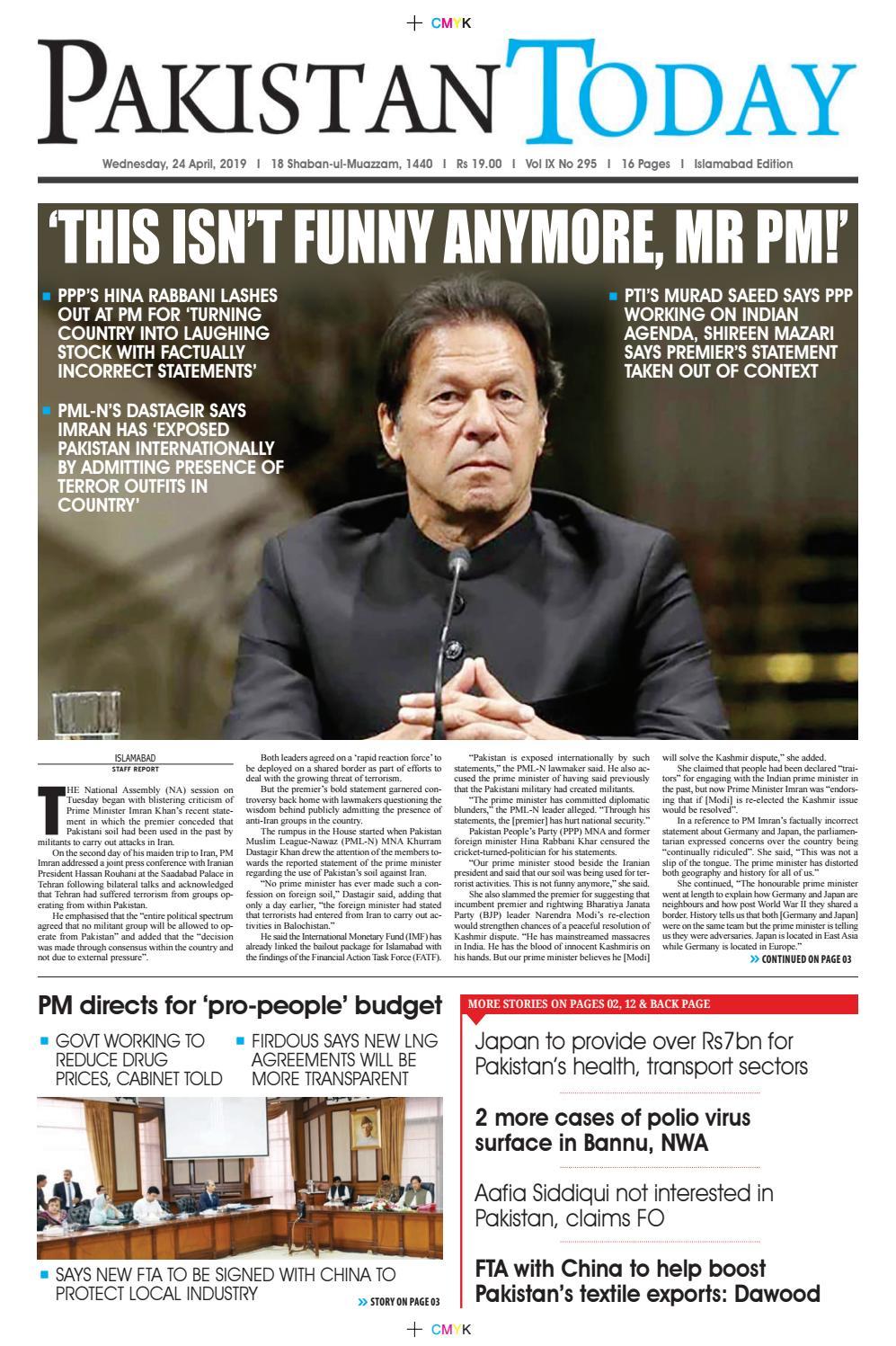 E-Paper PDF 24 April (ISB) by Pakistan Today - issuu