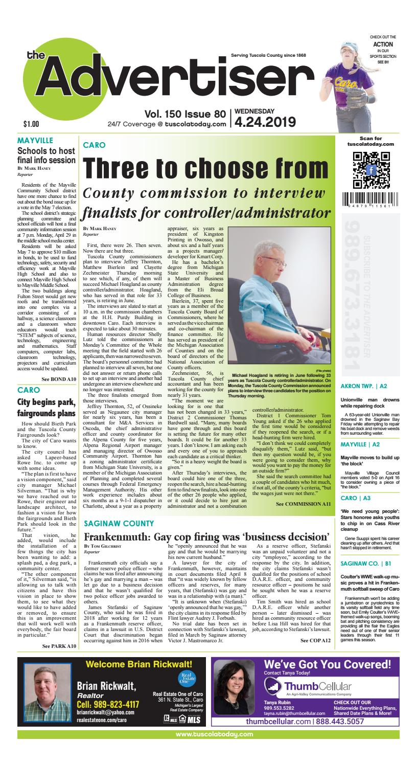 TCA 4-14-19 by Tuscola County Advertiser - issuu
