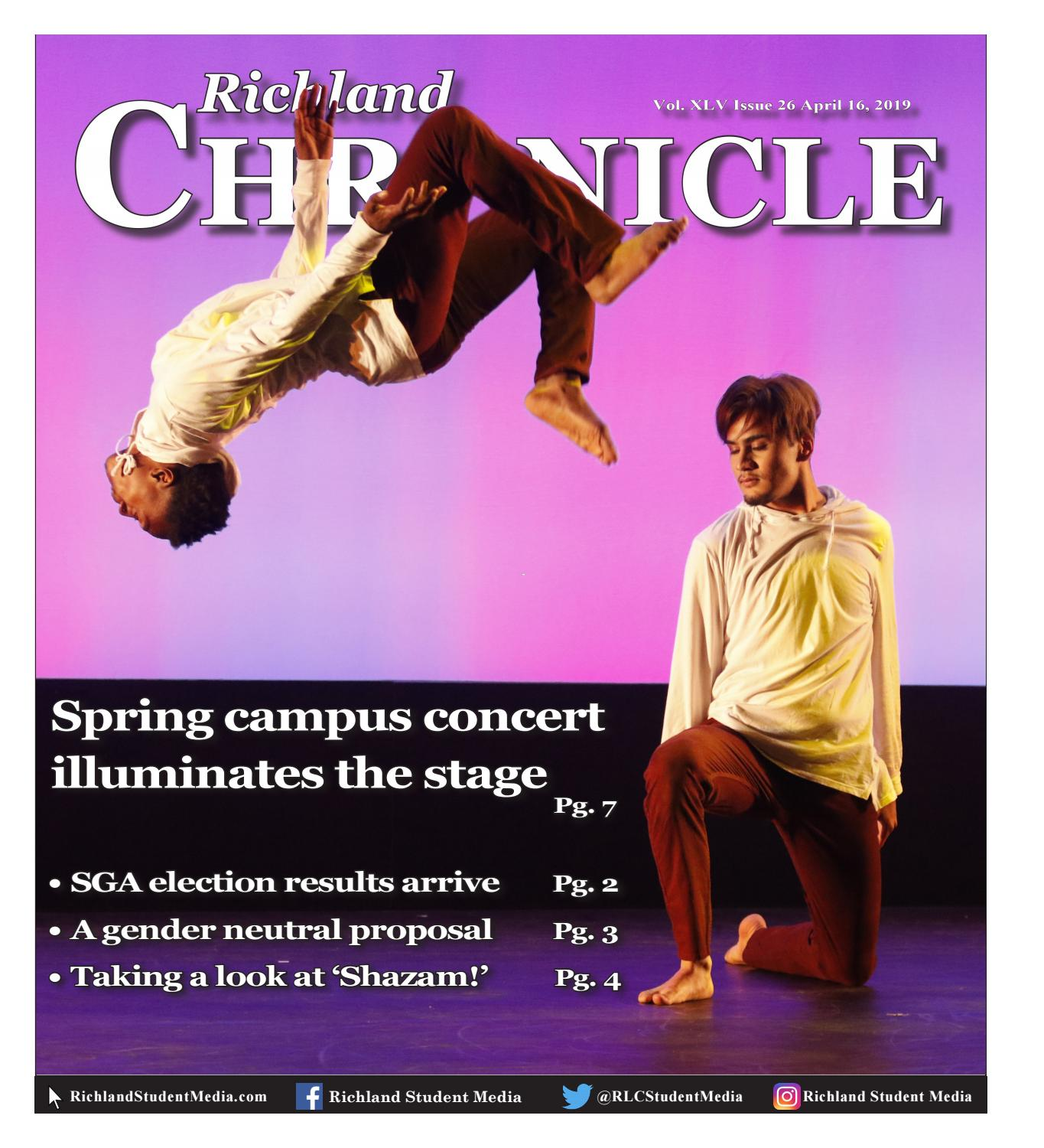 Richland Chronicle April 16th, 2019 by Richland Student ... on palmetto richland hospital map, richland college catalog, richland community college map, richland college history, richland city map, richland college dallas tx, richland decatur illinois, richland memorial hospital map, richland college field map,