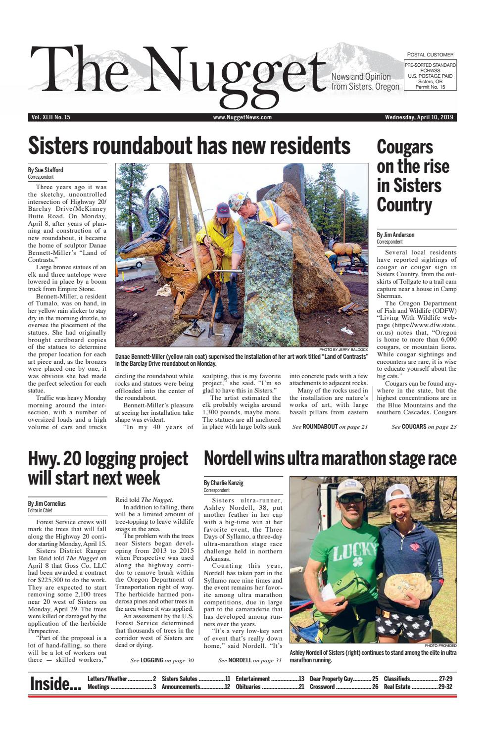 The Nugget Newspaper // Vol  XLII No  15 // 2019-4-10 by