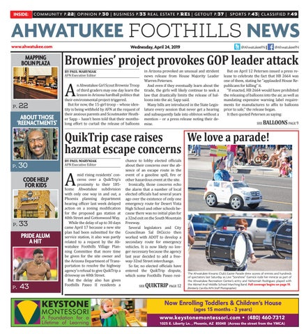 Ahwatukee Foothills News - April 24, 2019 by Times Media