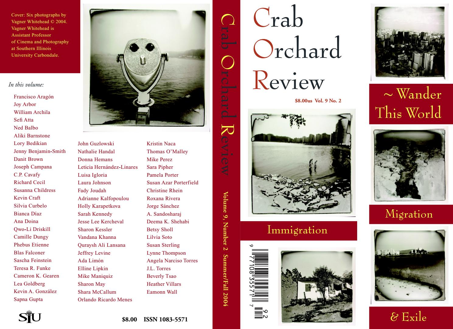 71018d1cf978 Crab Orchard Review Vol 9 No 2 S/F 2004 by Crab Orchard Review - issuu