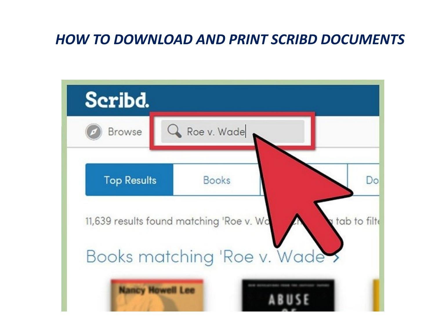 books from account scribd software to