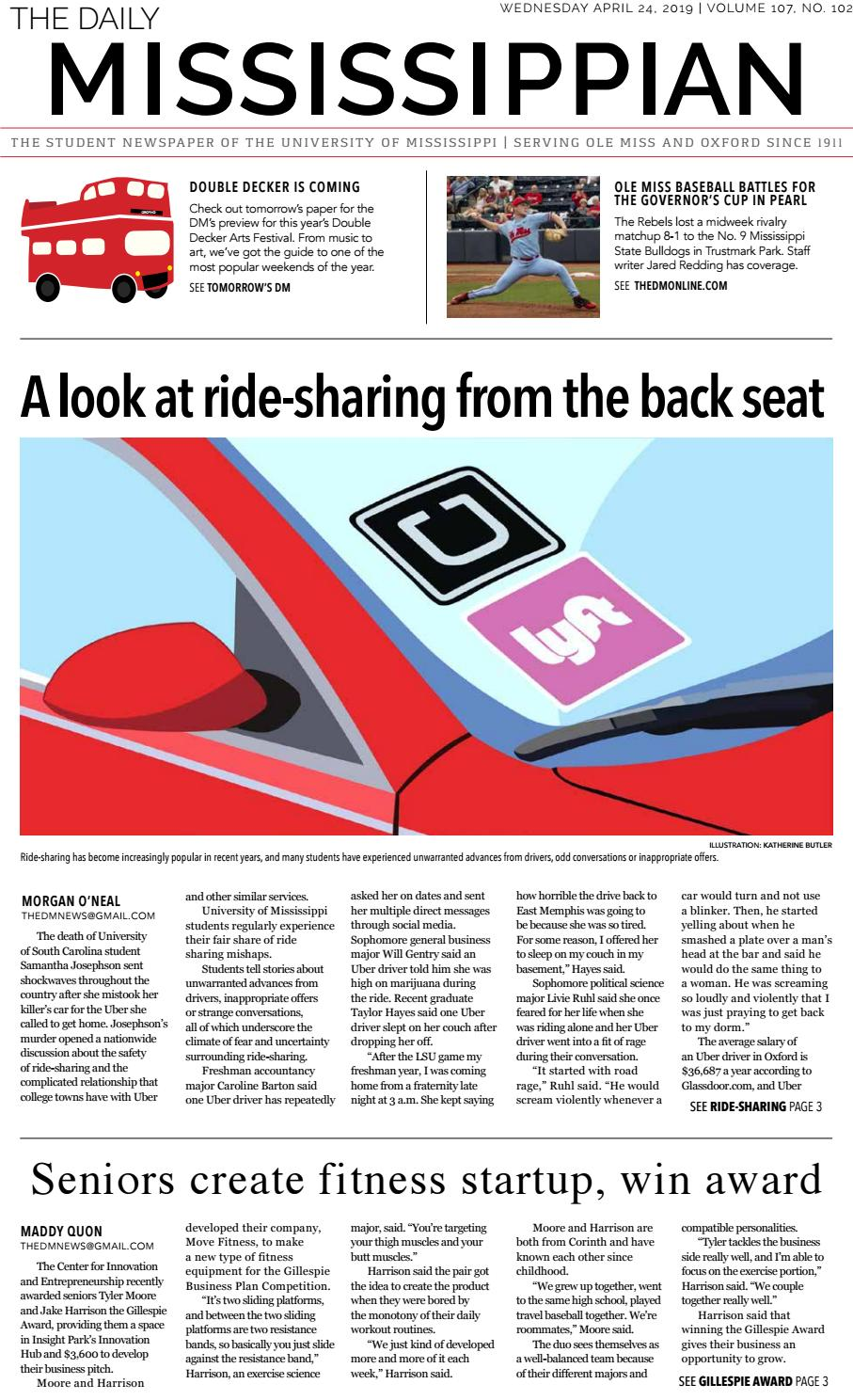 The Daily Mississippian - April 24, 2019 by The Daily