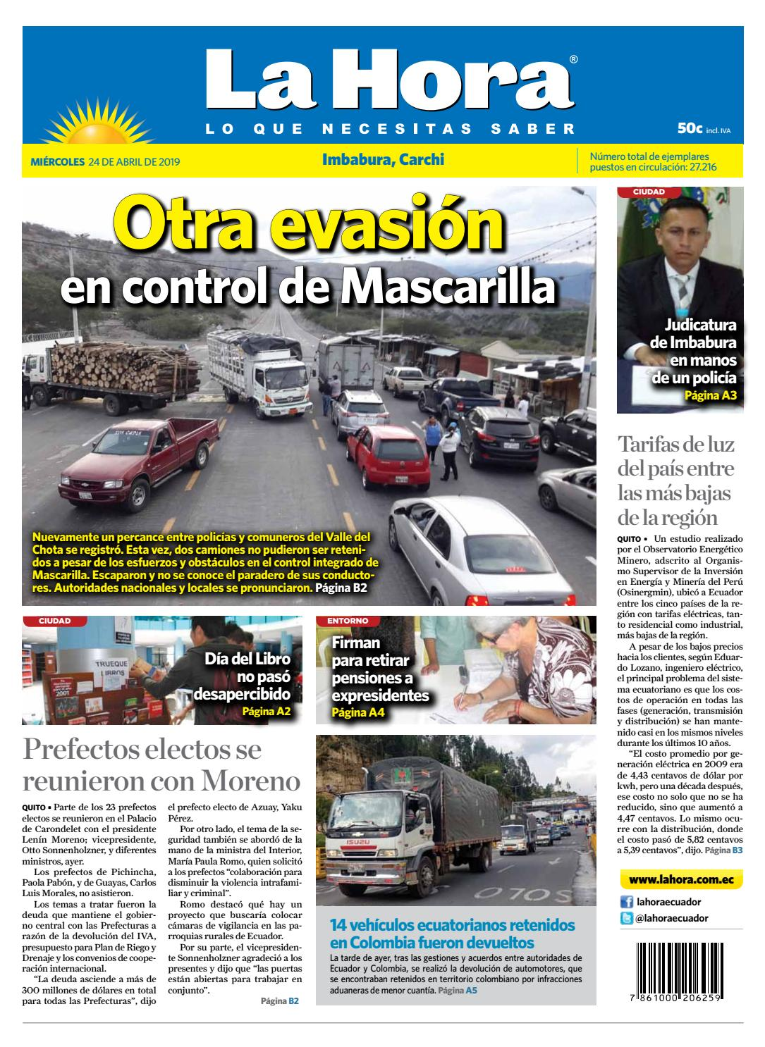 cbb0886b6 Imbabura 24 de abril de 2019 by Diario La Hora Ecuador - issuu