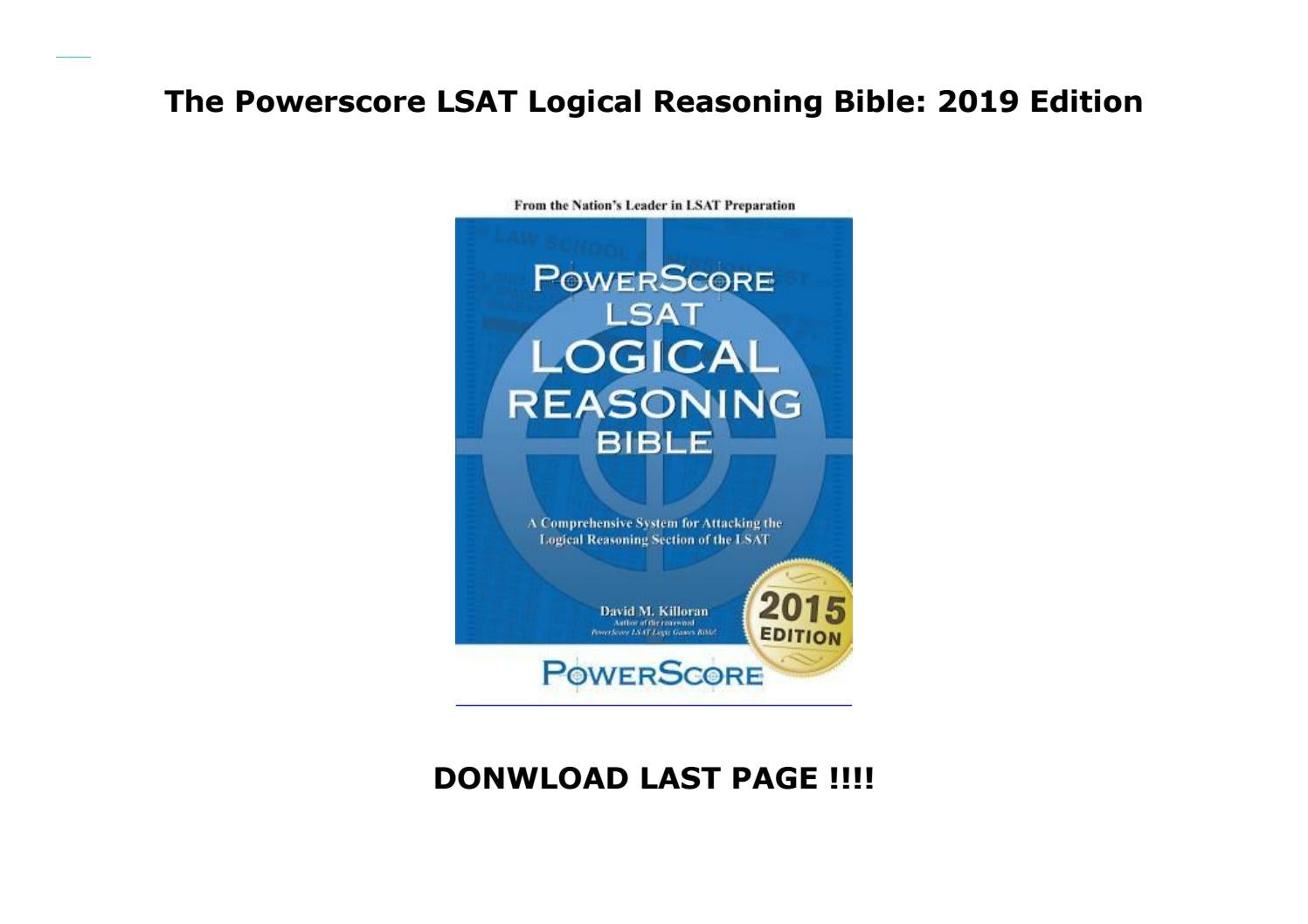 LSAT Logical Reasoning Bible A Comprehensive System for Attacking the Logical Reasoning Section of the LSAT