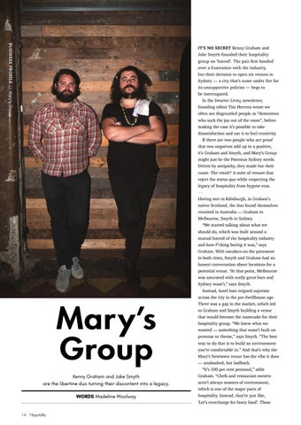Page 14 of BUSINESS PROFILE: Mary's Group