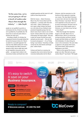 Page 15 of BUSINESS PROFILE: Mary's Group