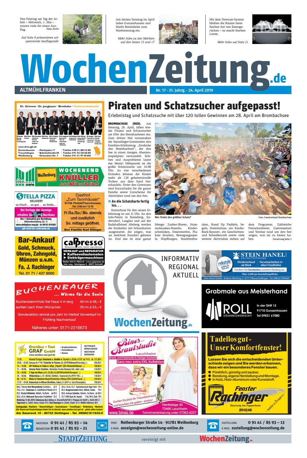 Wochenanzeiger weißenburg bekanntschaften [PUNIQRANDLINE-(au-dating-names.txt) 30