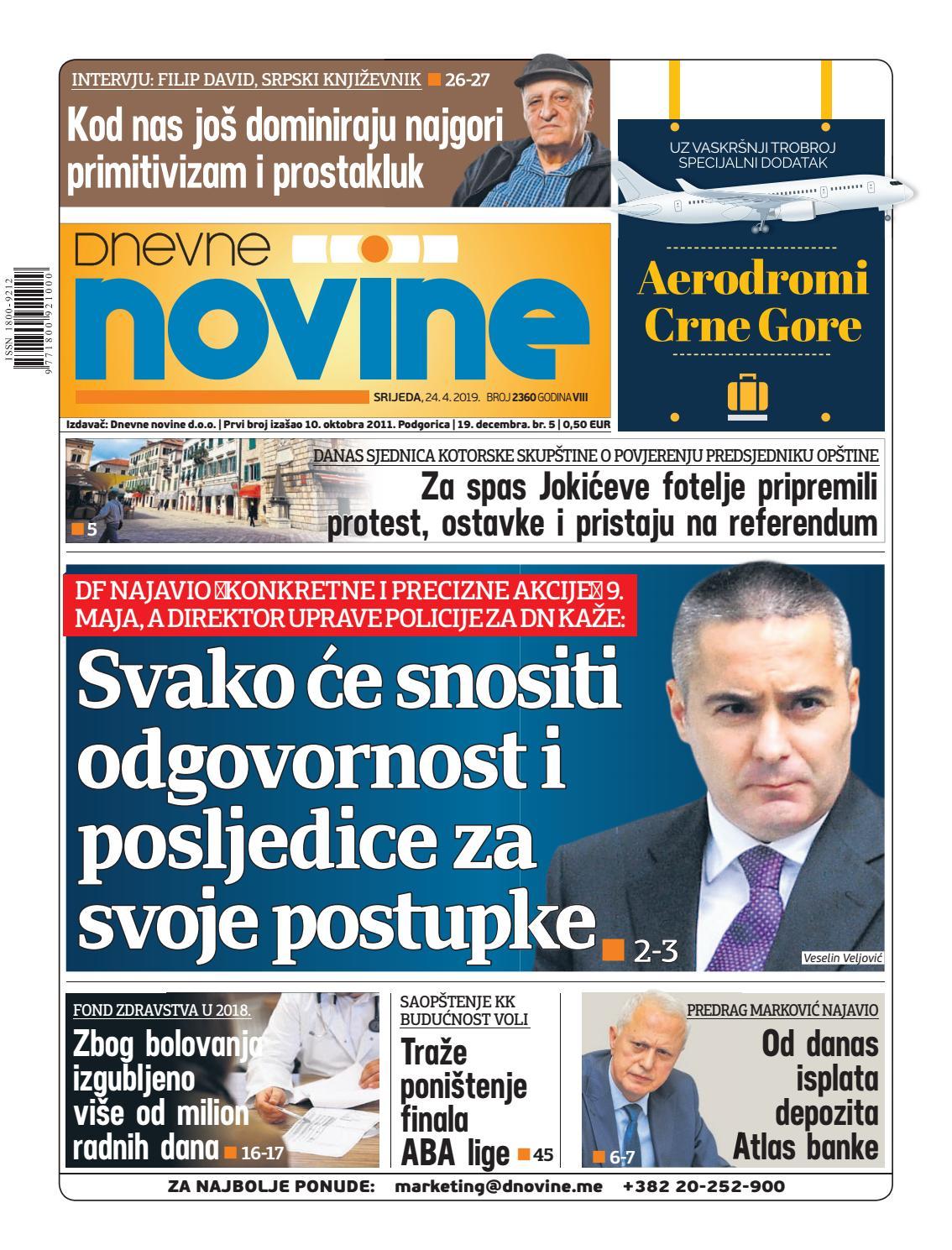 5093e56b8693 Dnevne novine 24. april 2019. by Dnevne Novine - issuu