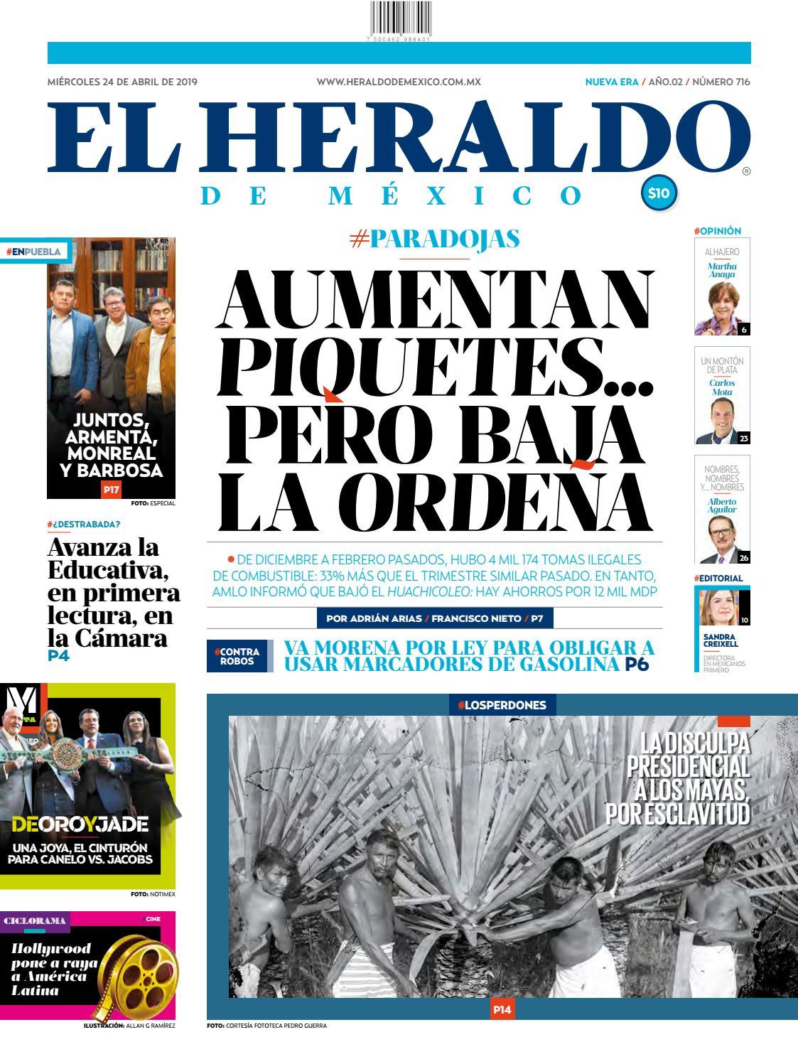 0b5aec191 Miércoles 24 de abril del 2019 by El Heraldo de México - issuu