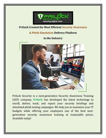 Cyber Security Awareness Training - Prilock by Prilock