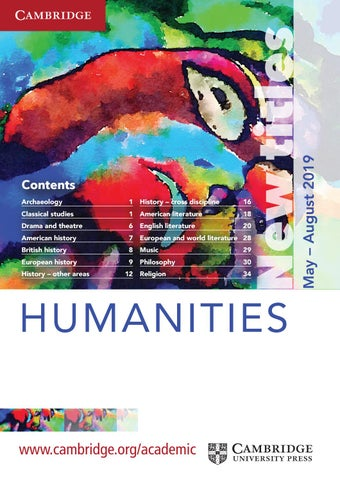 Humanities Summer Catalogue 2019 by Cambridge University Press - issuu