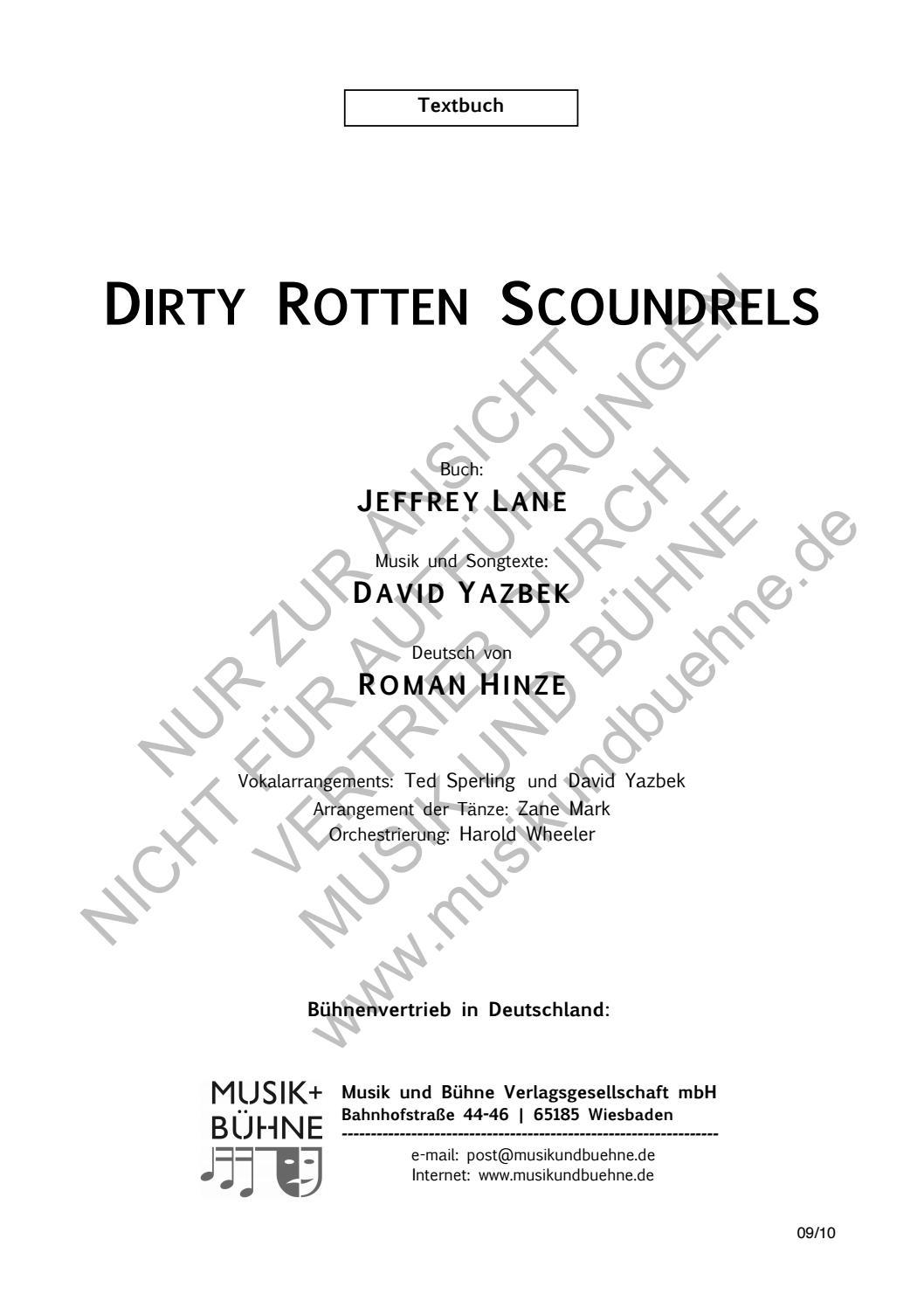 Dirty Rotten Scoundrels Zwei Hoffnungslos Verdorbene