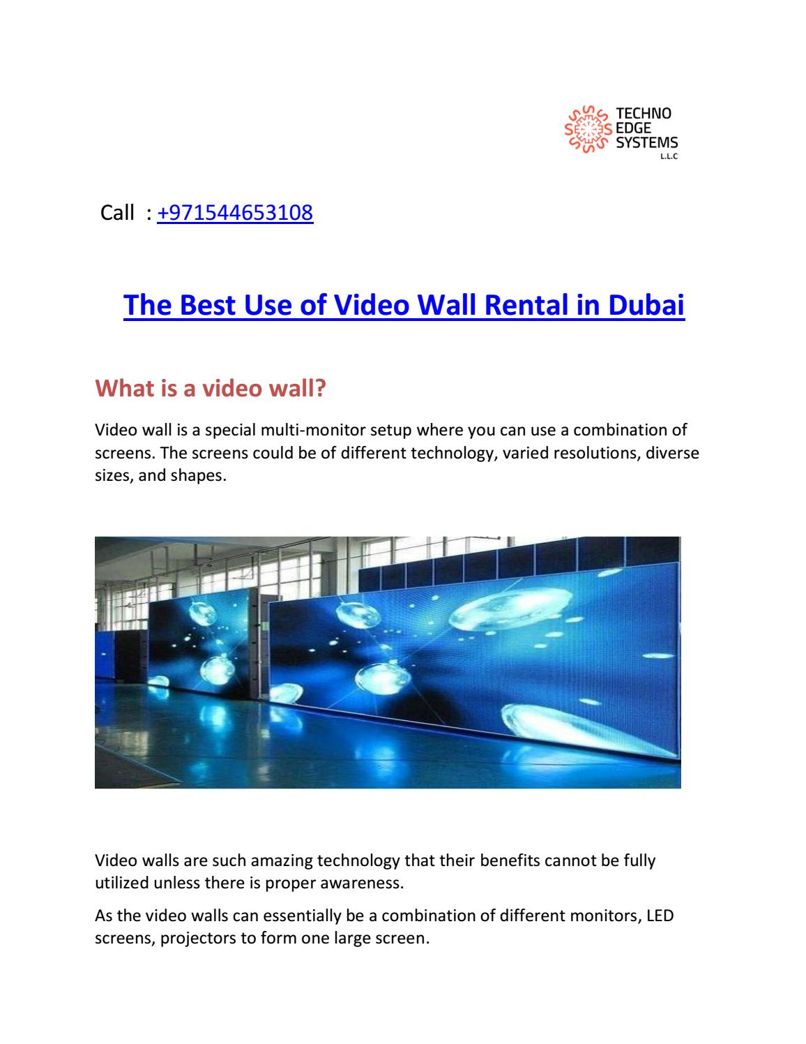 Video wall rental dubai | video wall rental - Techno Edge