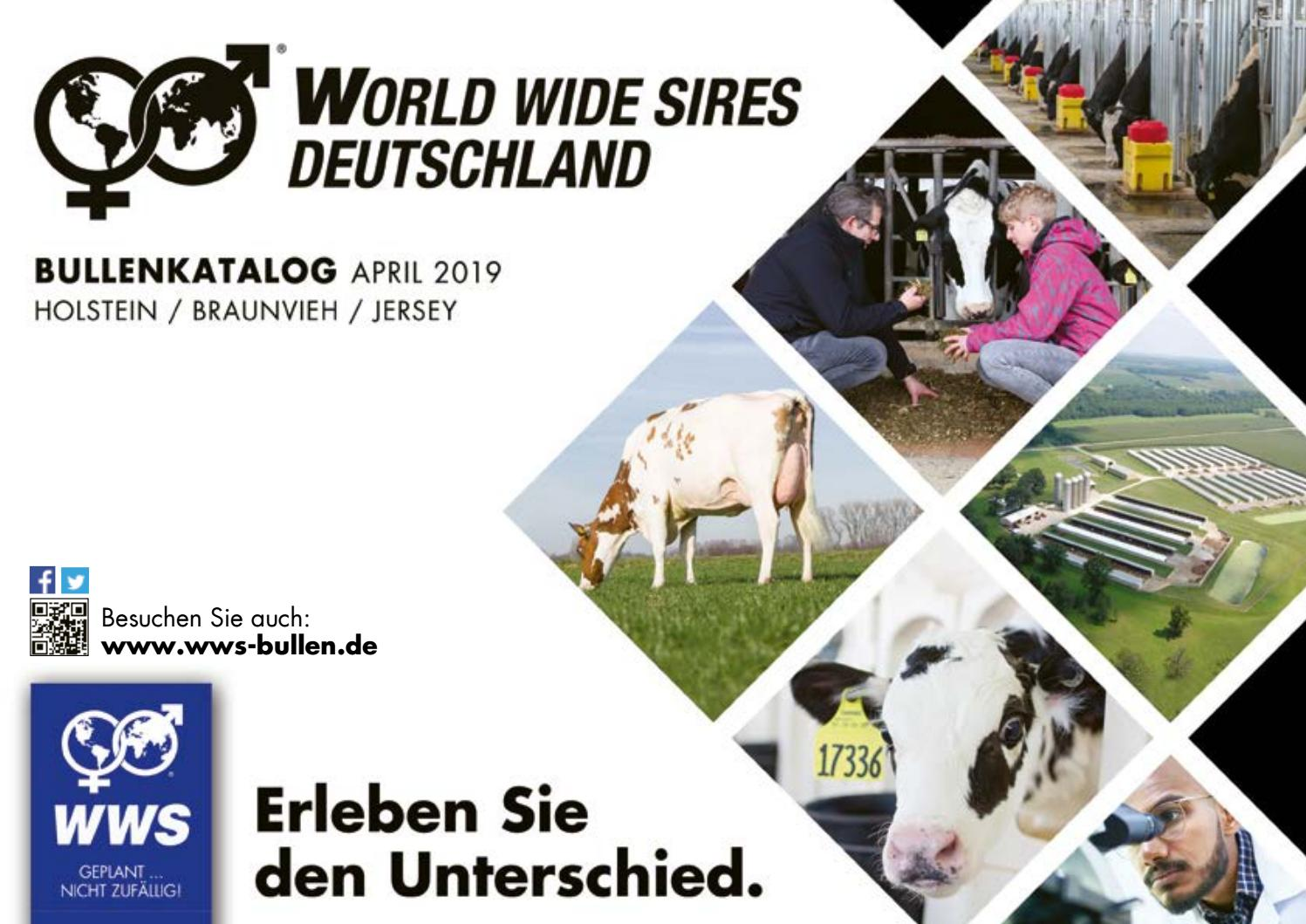Bullenkatalog April 2019 By World Wide Sires Deutschland Gmbh Issuu